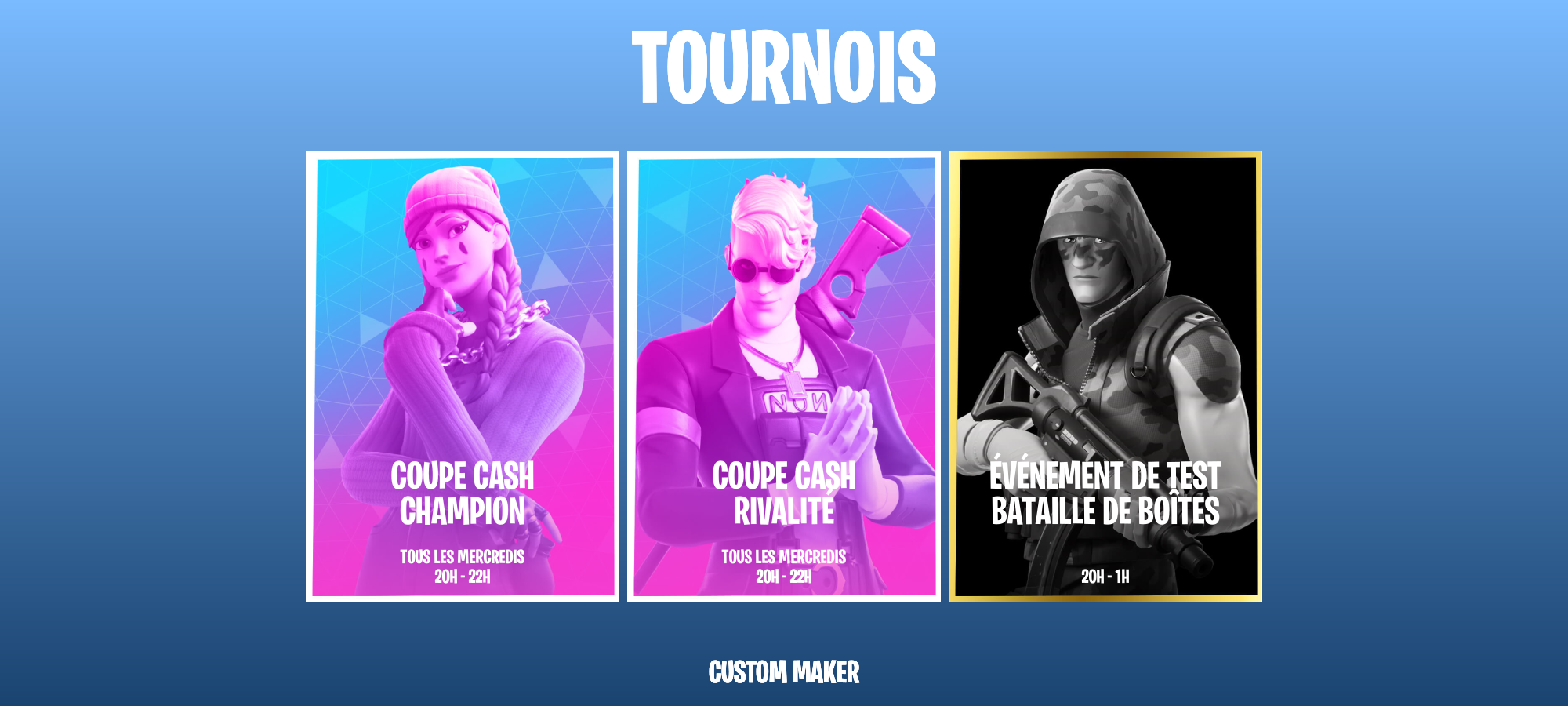 Commande *tournaments