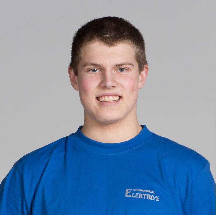 Montør Niklas Tollefsen i Brumunddal Elektro