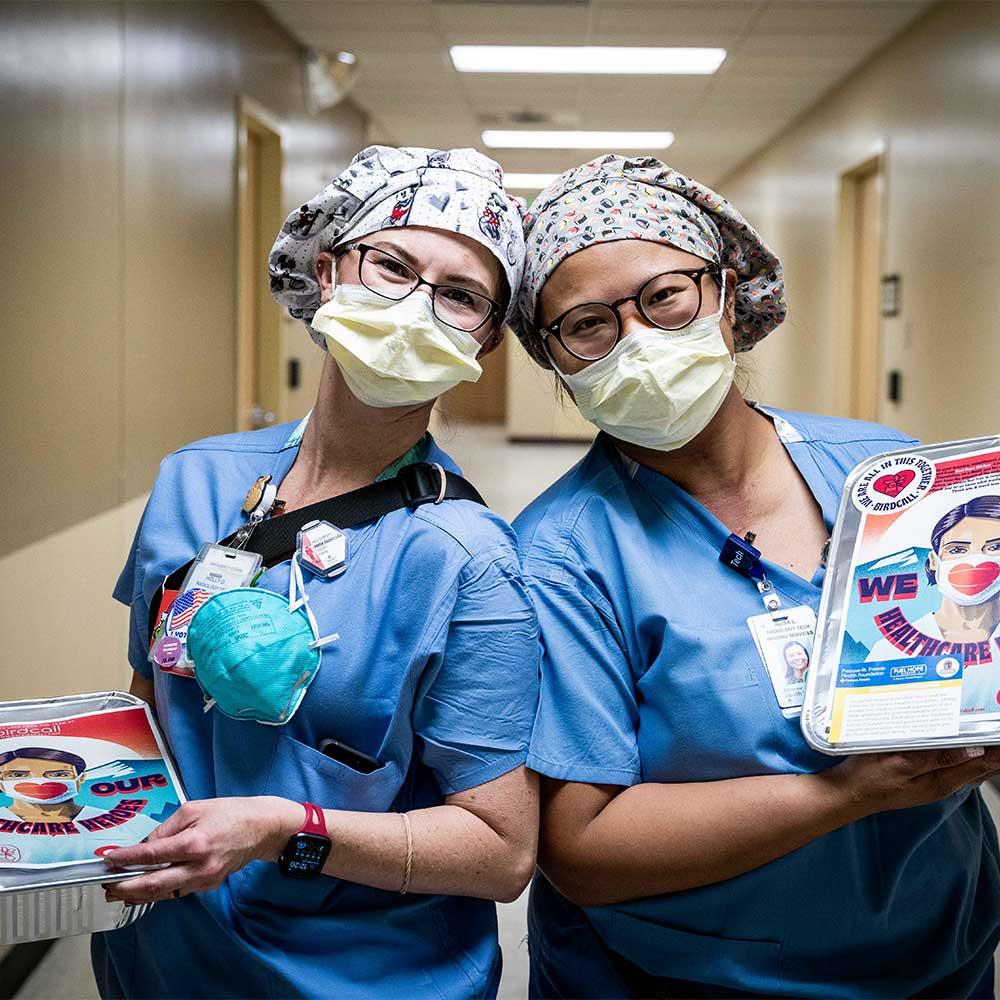 Doctors receiving meals