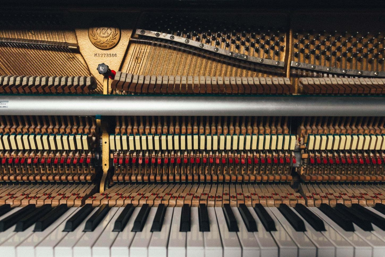 interieur d'un piano acoustique