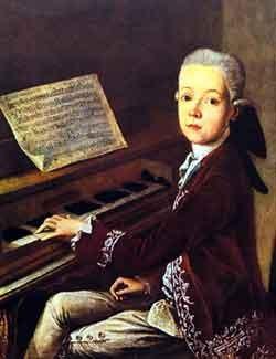 mozart enfant jouant du piano