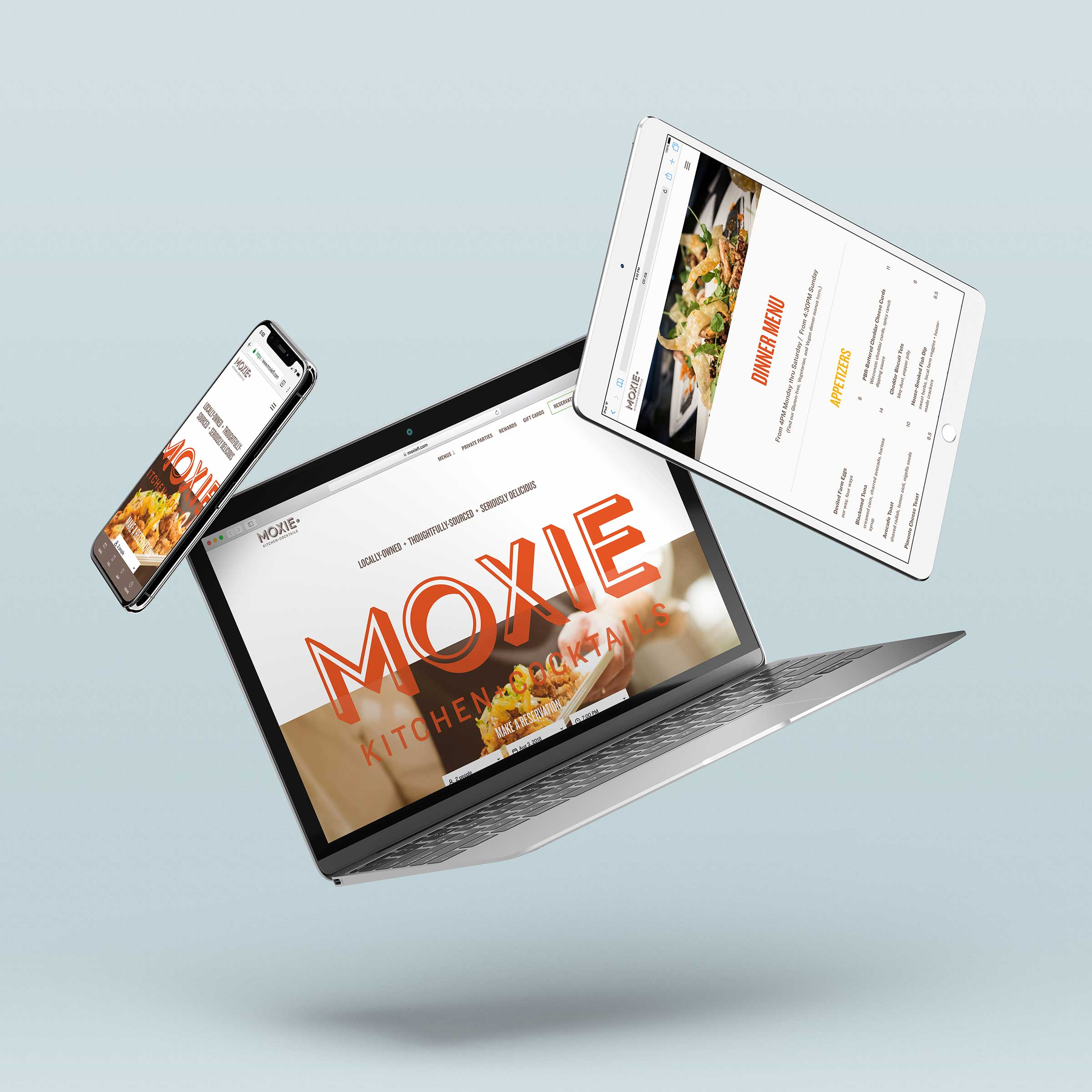 Mockup of Moxie website on multiple devices