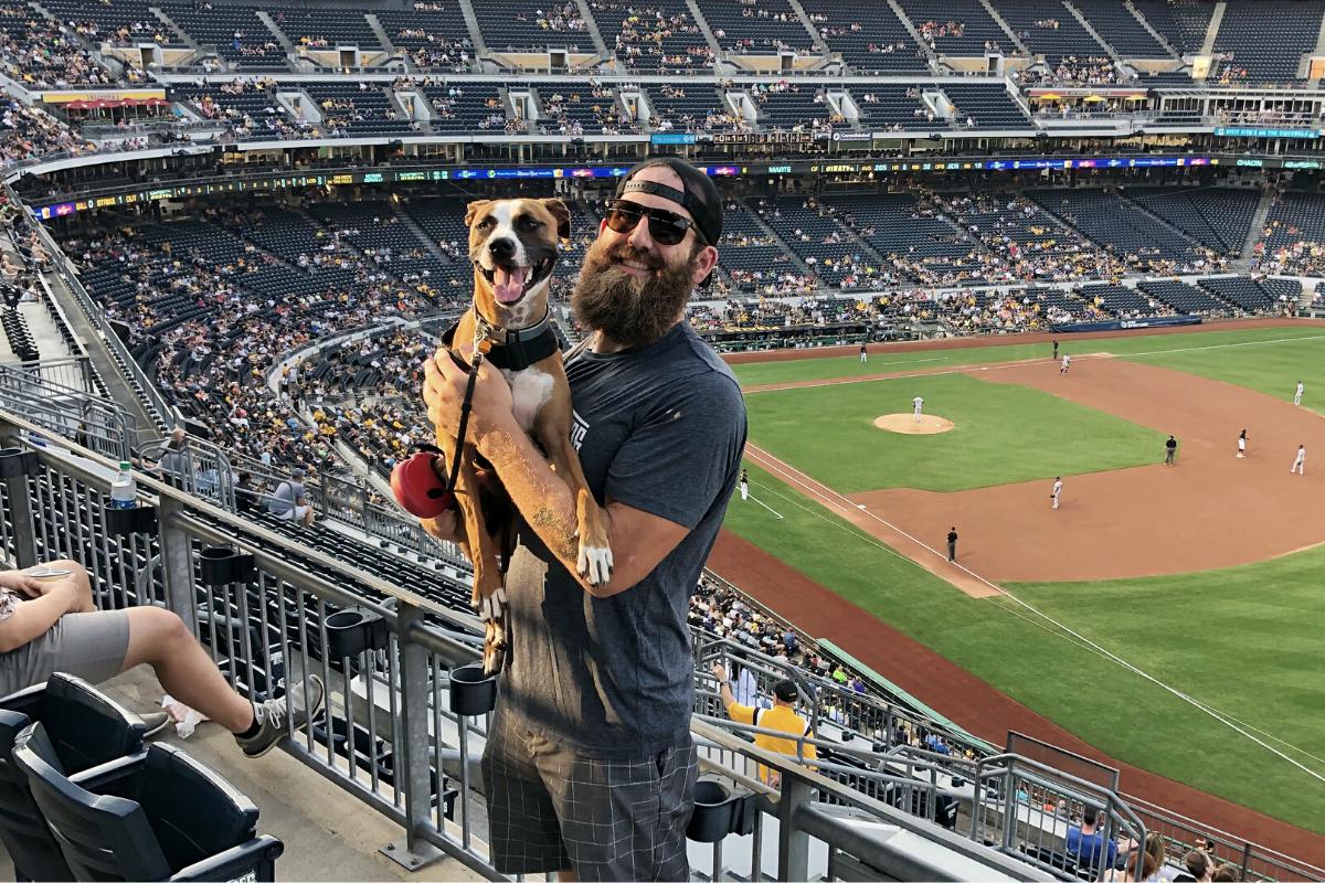 Joe Hawley traveling to baseball stadiums