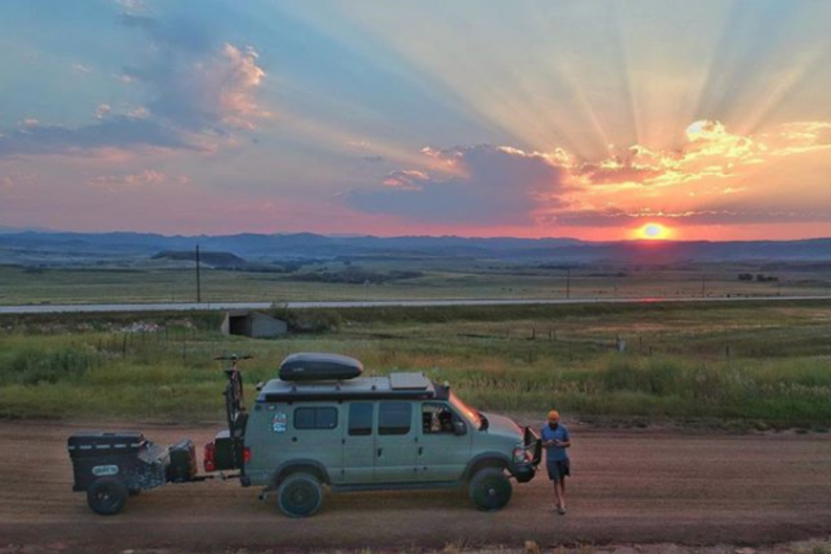 Joe Hawley Man Van Dog Blog sunset