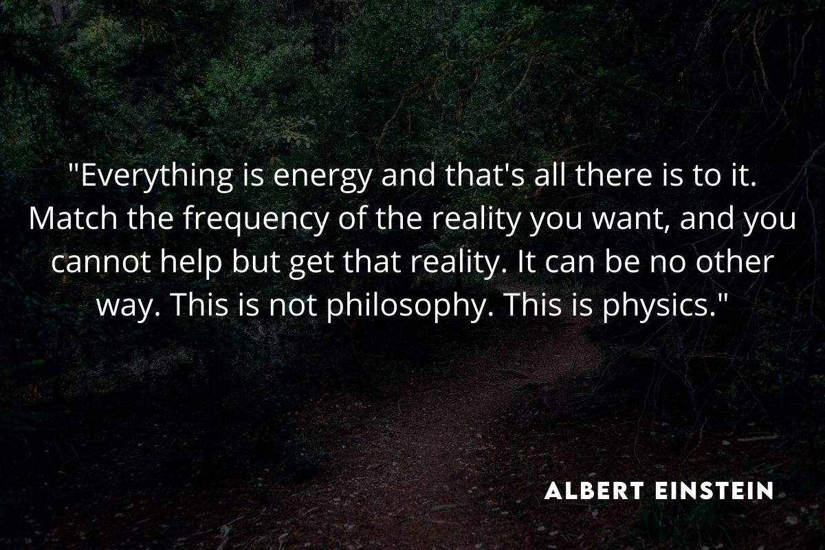 energy frequency quote albert einstein
