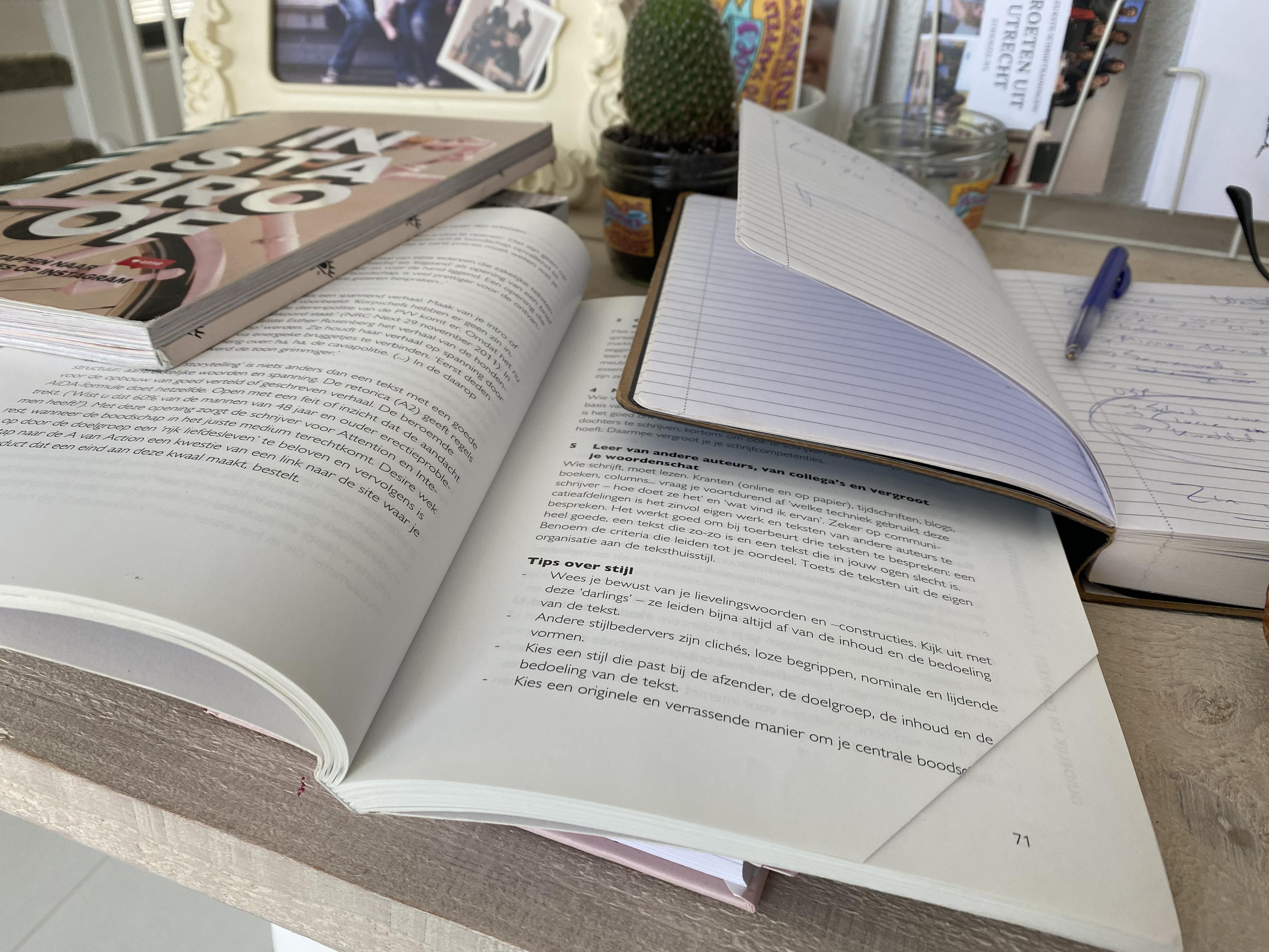 Klein inkijkje in het boek dat ik schrijf: 'Een kind kan deze schrijfmethode begrijpen'