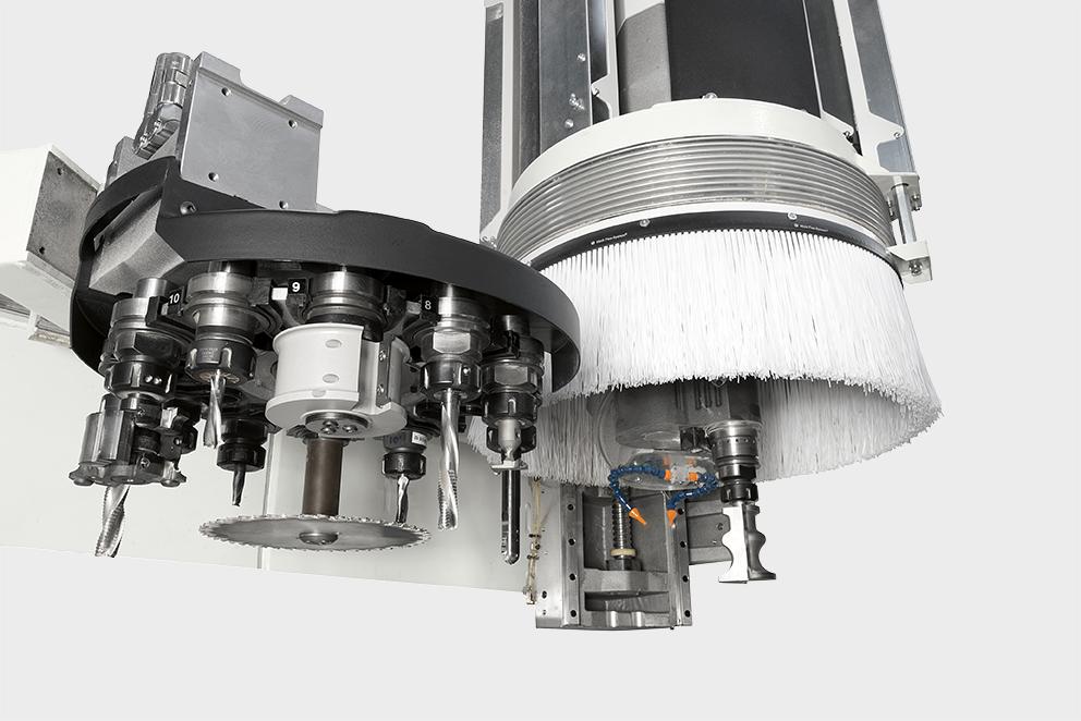 Werkzeugwechseler der CNC Fräse Morbidelli Author M600.