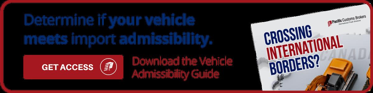 Determine Vehicle Admissibility