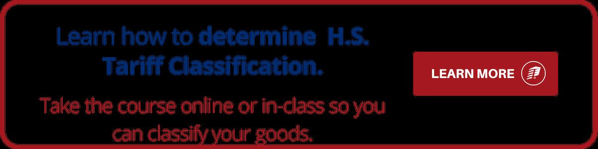 HS Tariff Classification Training
