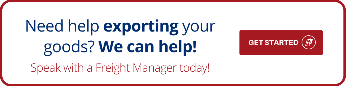 Need help exporting your goods? We can help!