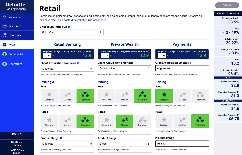 E-learning/training app for Deloitte Digital