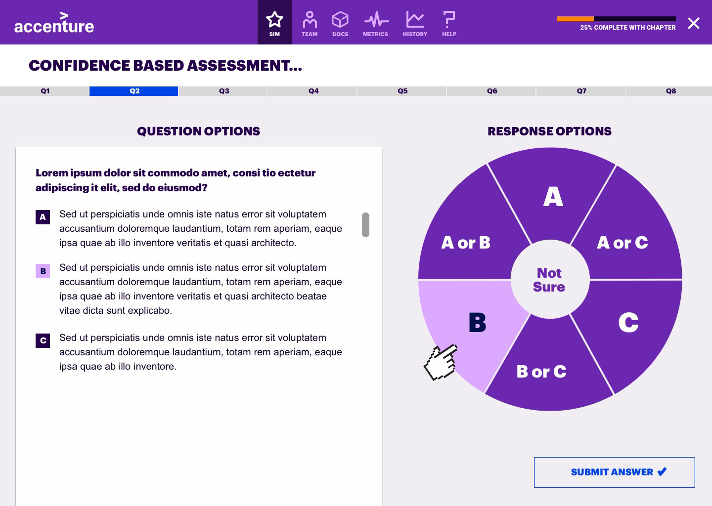 E-Learning & Onboarding App for Accenture