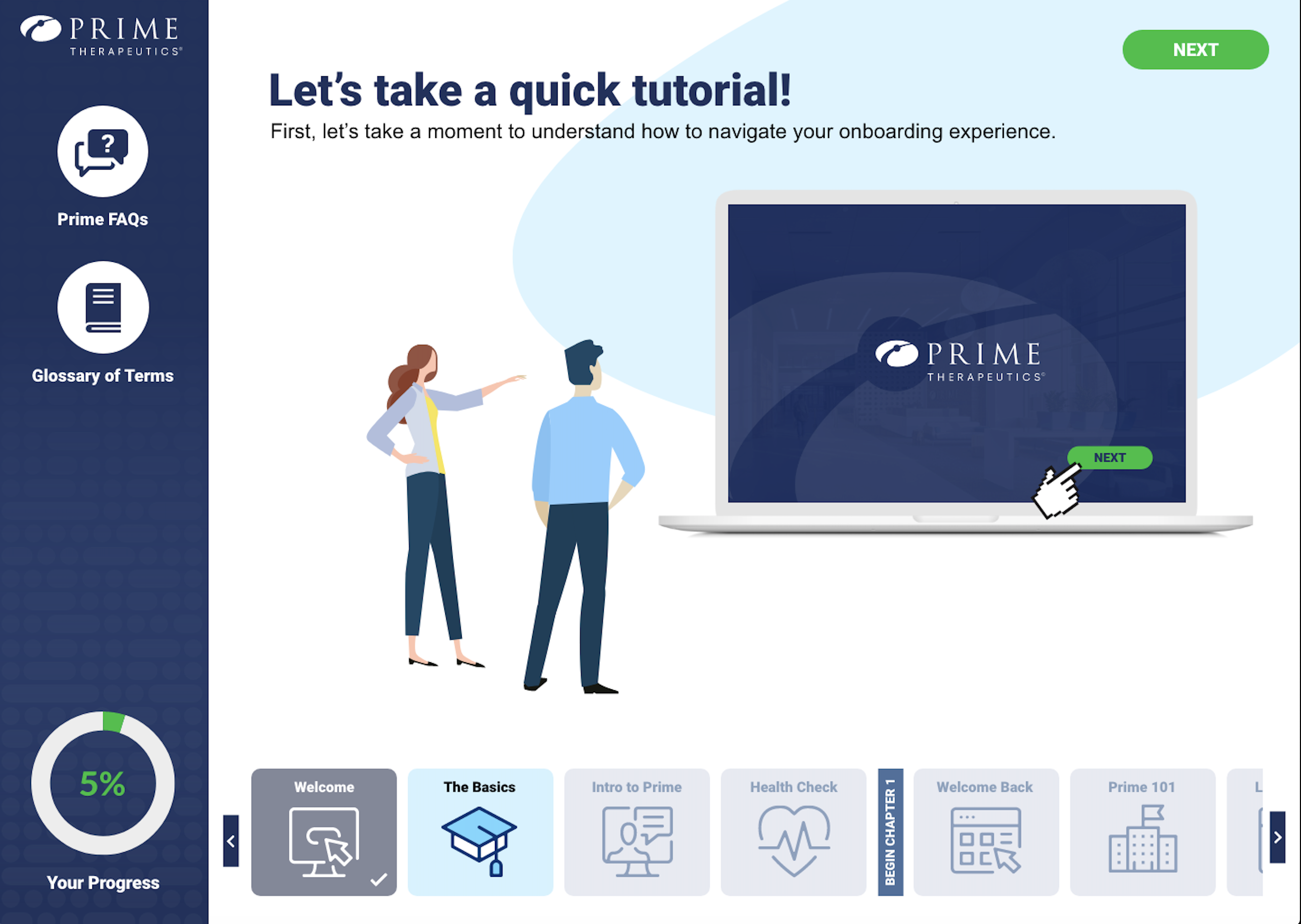 E-Learning & Onboarding App for Prime Therapeutics