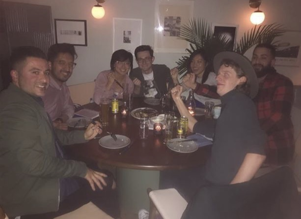 """Me with new friends made over a """"Big Ass Steak"""""""