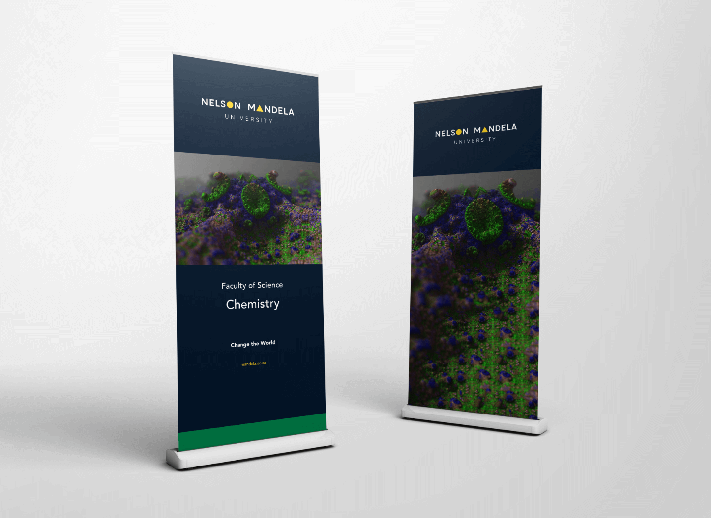 Creative Caterpillar client Nelson Mandela University pull up banners.