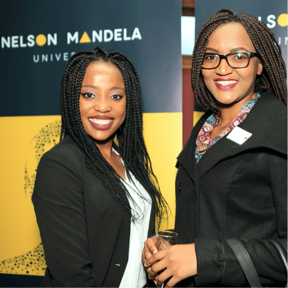 Creative Caterpillar client Nelson Mandela University pull up banners event.