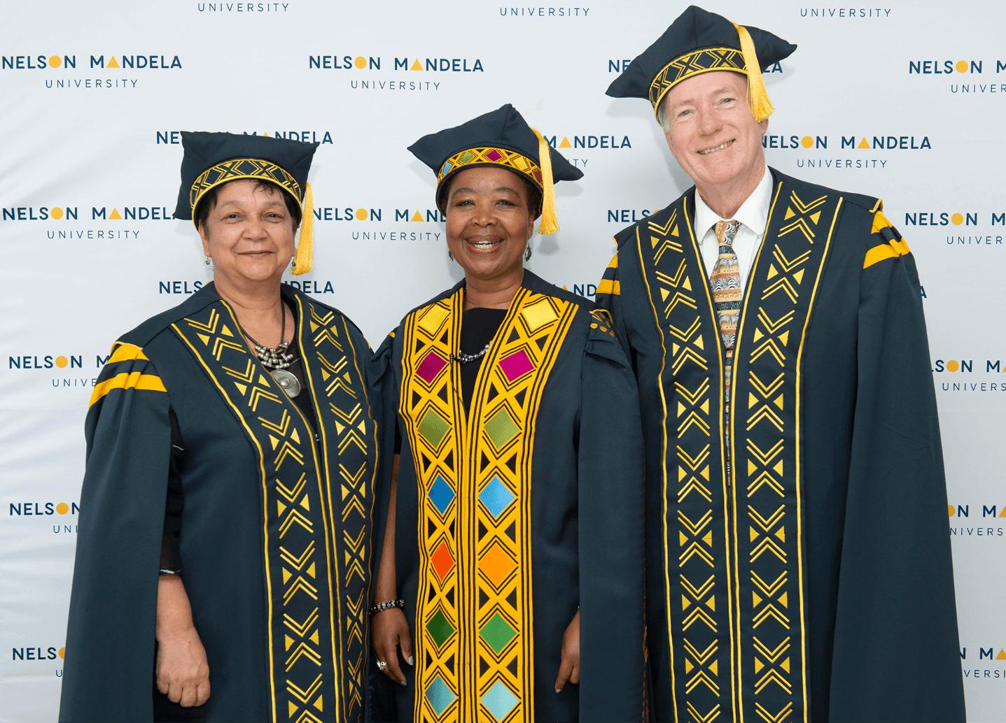 Creative Caterpillar client Nelson Mandela University graduation attire vice cancellor Sibongile Muthwa.