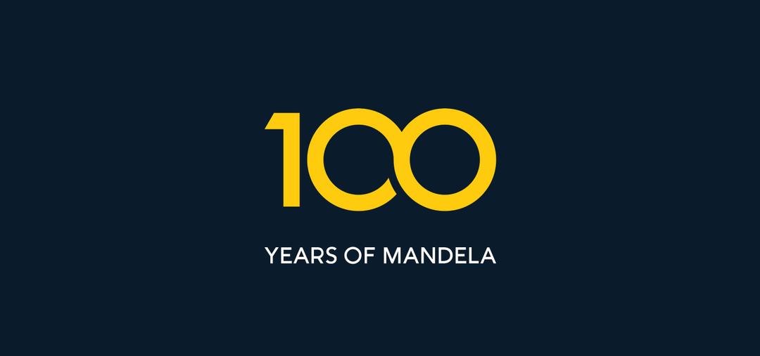 Creative Caterpillar client Nelson Mandela University 100 Years of Mandela anniversary logo.