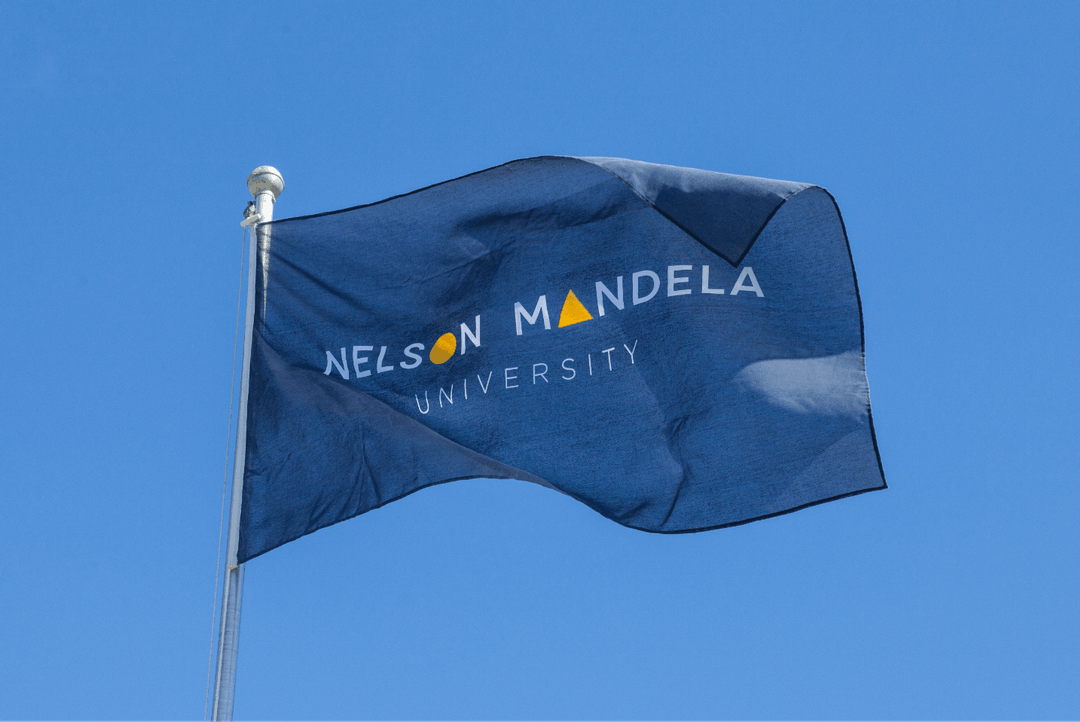 Creative Caterpillar client Nelson Mandela University flag.