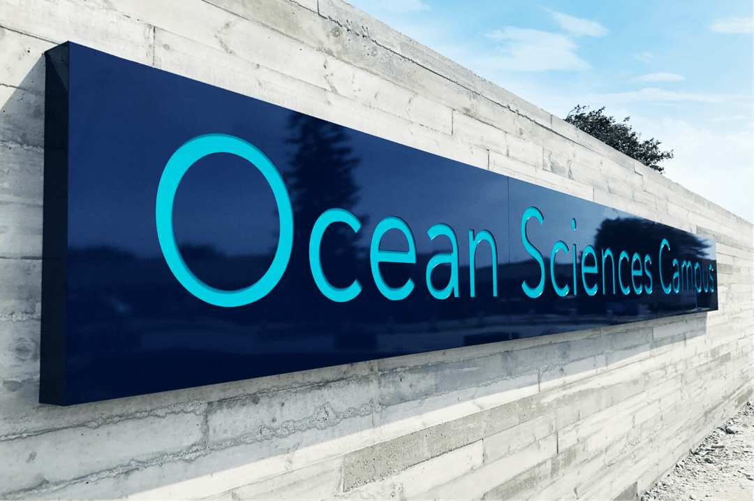 Creative Caterpillar client Nelson Mandela University Ocean Science Campus wall signage.