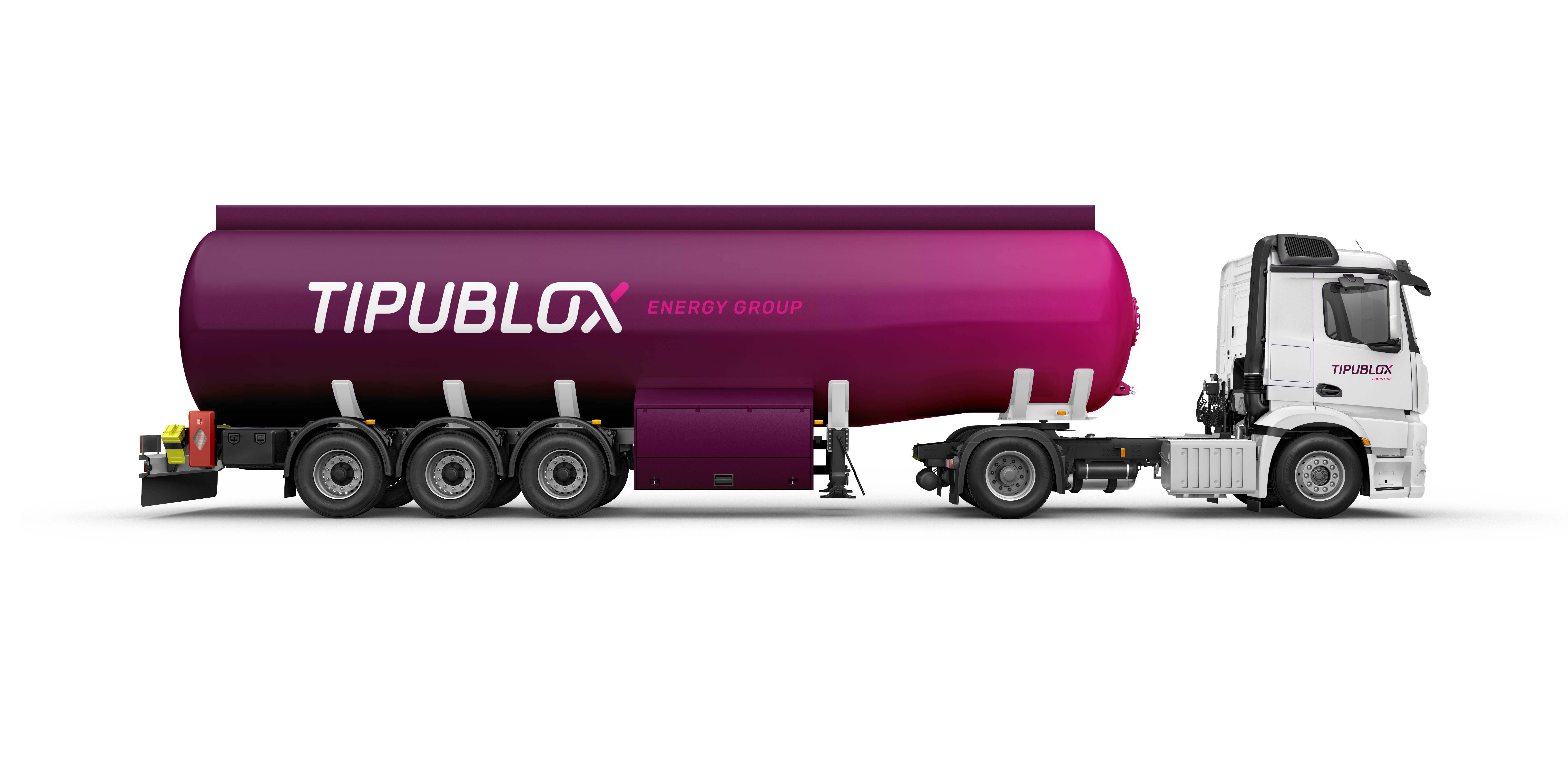 Creative Caterpillar client Tipublox Energy Group vehicle branding.