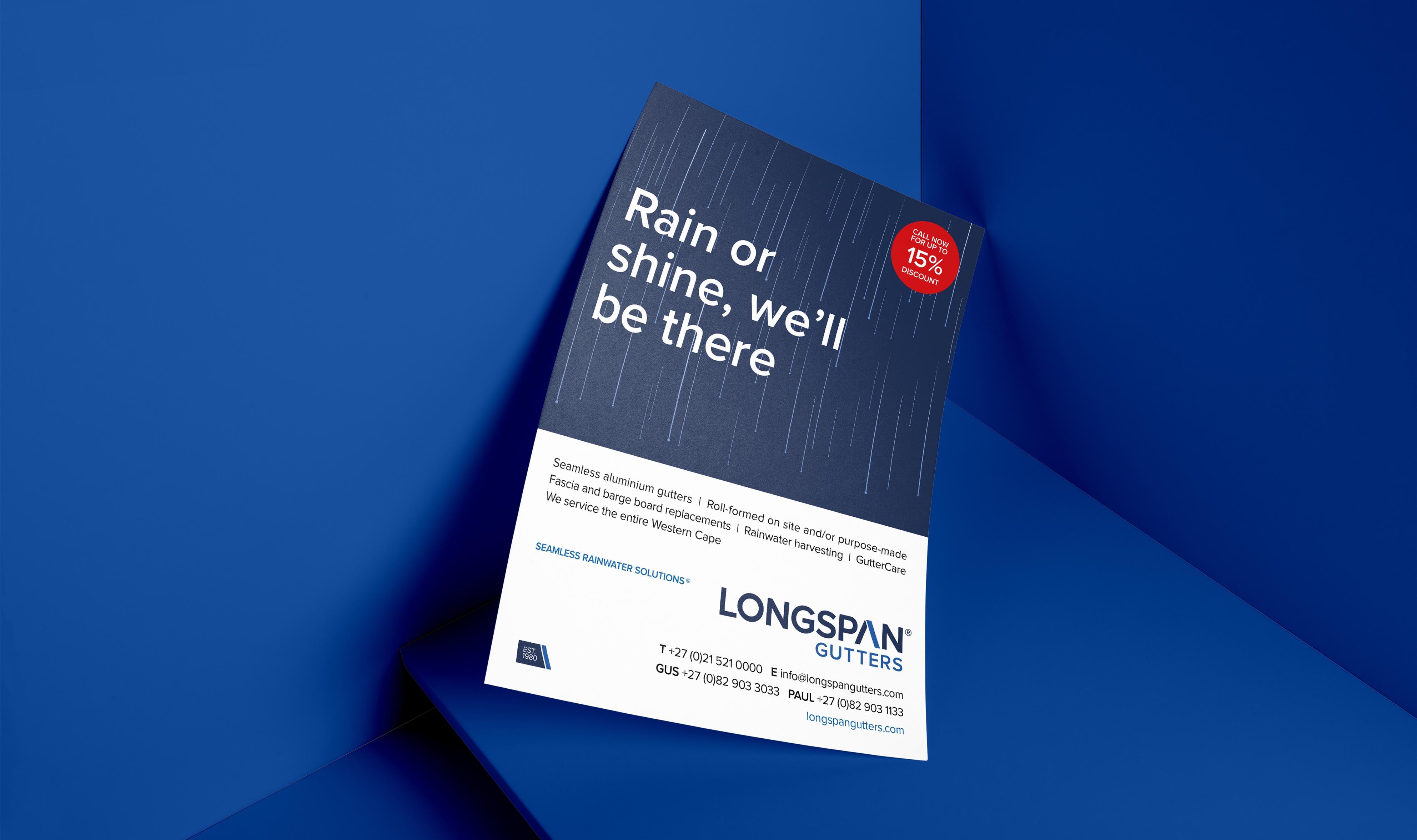 Creative Caterpillar client Longspan Gutters - campaign.