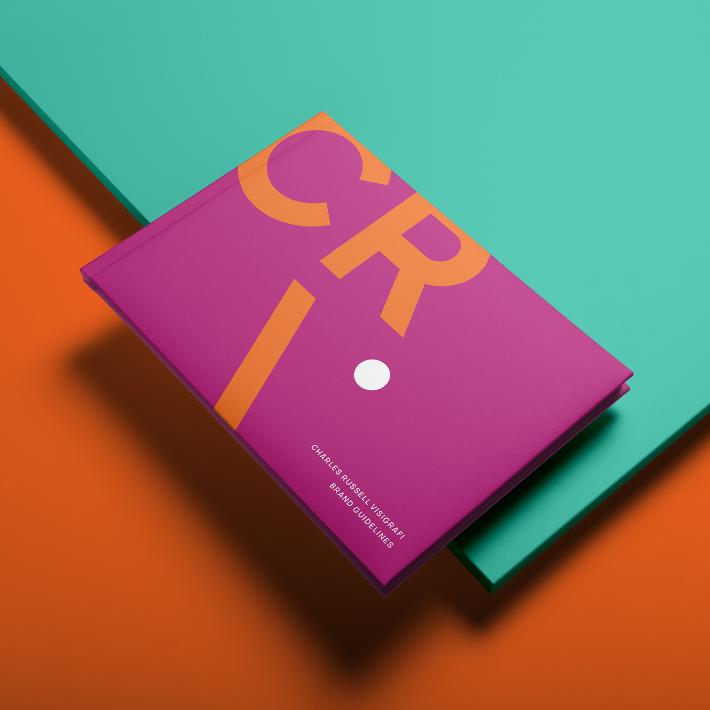 Creative Caterpillar client Charles Russell Visigrafi Brand Manual
