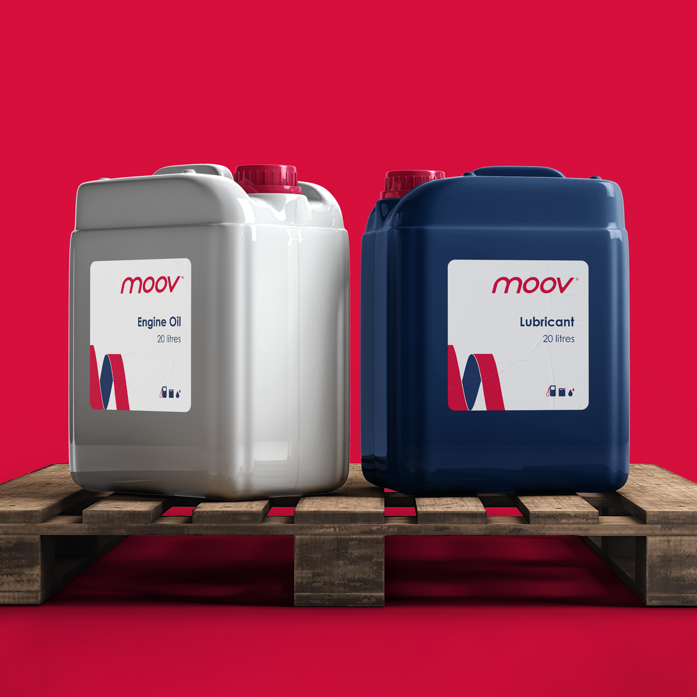 Creative Caterpillar client Moov Branded Product Container