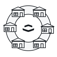 Houses around the Perimeter logo