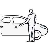 Man almost opening a car door
