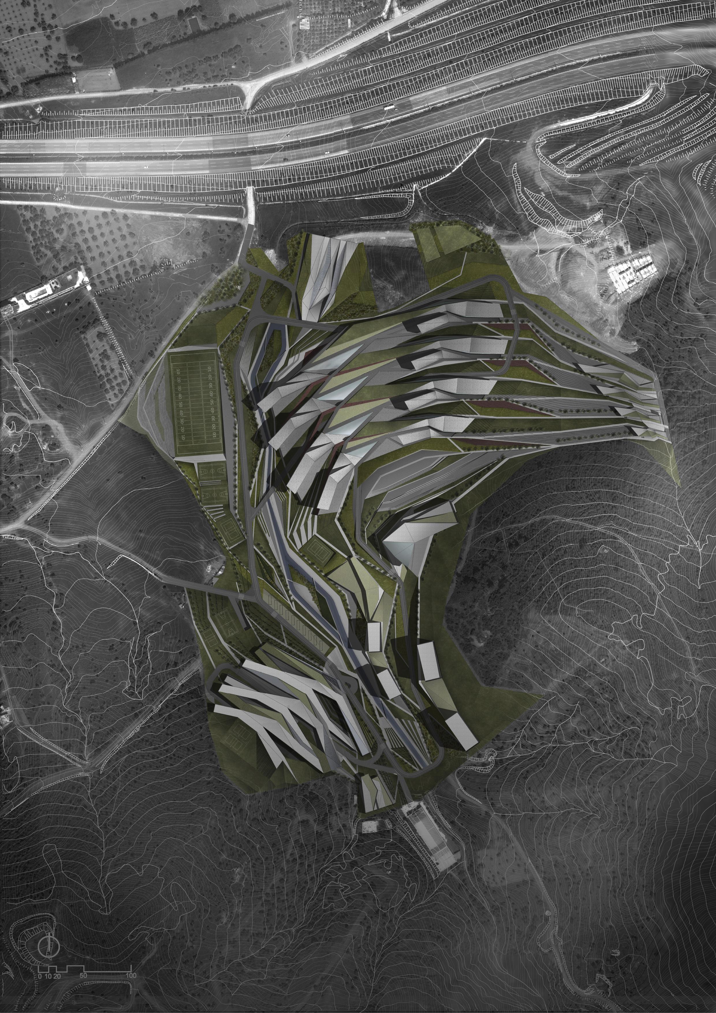 Izmir university plan render, Plasma studio