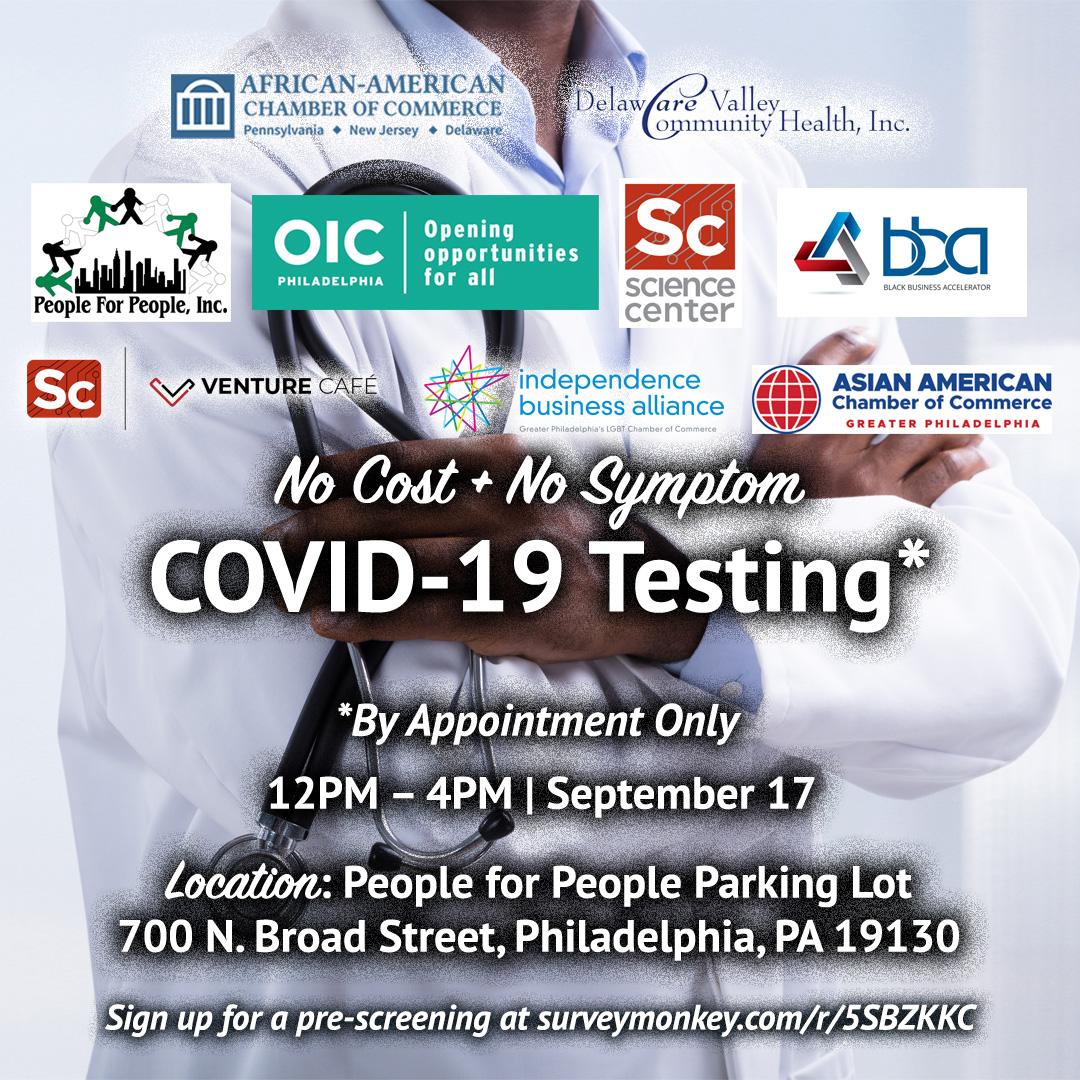 No Cost, No Symptom COVID-19 Testing