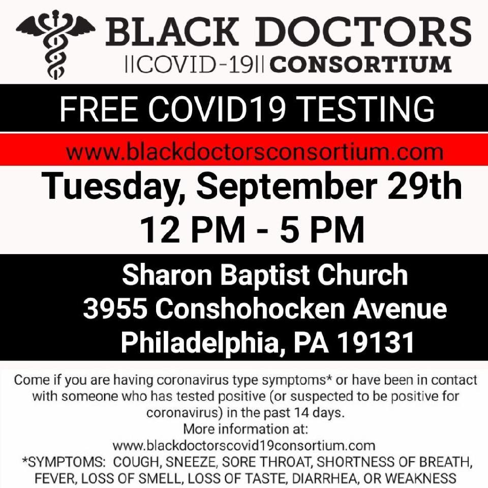 Free COVID Testing  - Tuesday, September 29th at Sharon Baptist Church