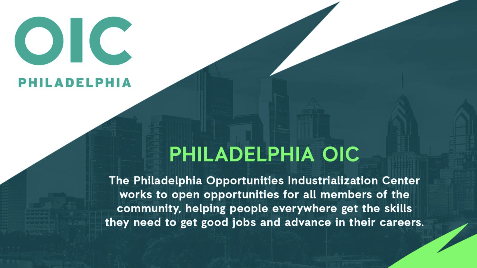 Philadelphia Eagles Support Philadelphia OIC