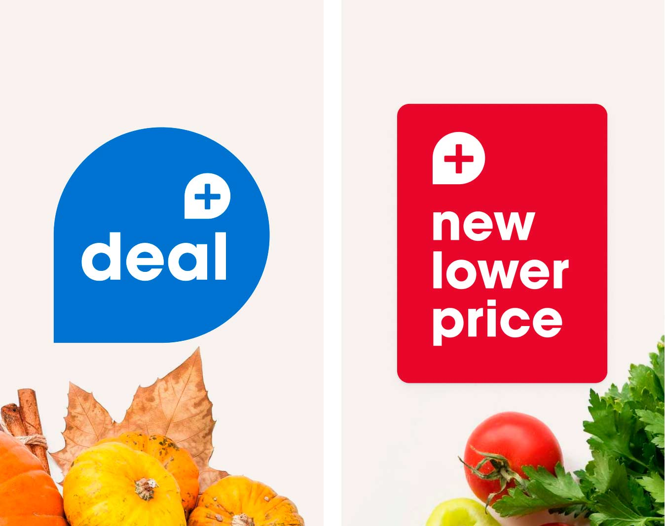 Signages for deal and new lower price
