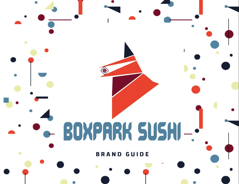 Image of BoxPark Sushi brand guide cover