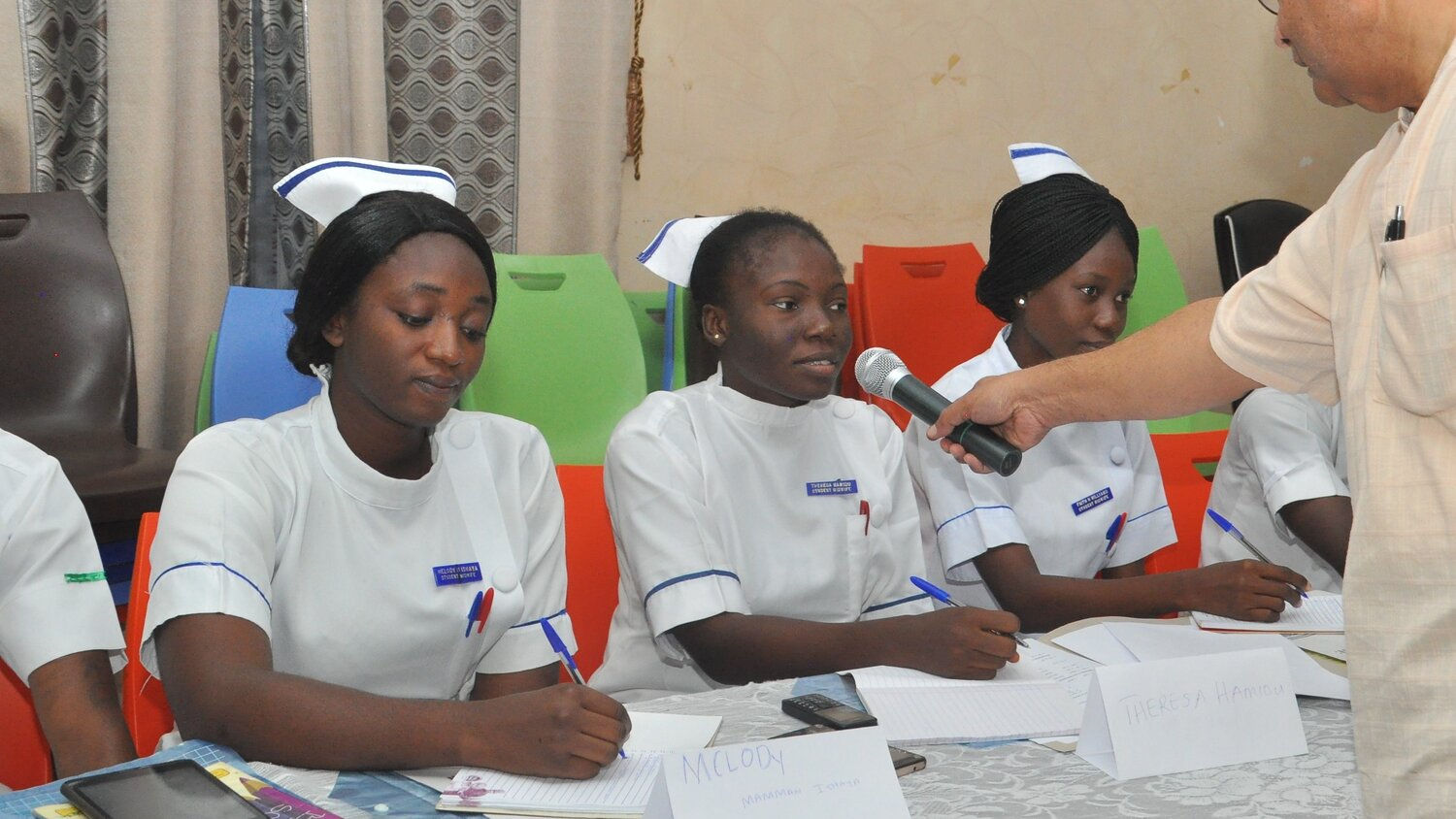 Students from the College of Nursing in Gombe received OMNIA training in October 2019