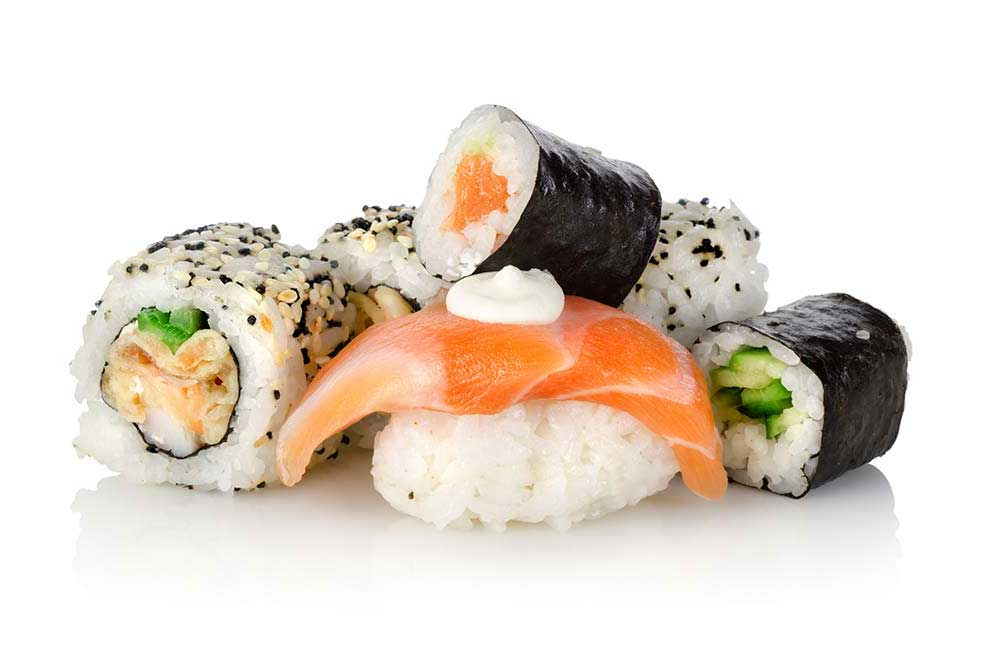 A pile of delicious sushi!