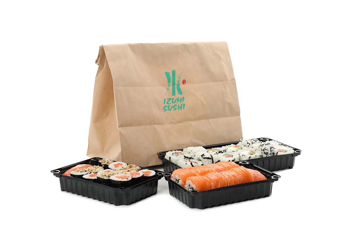 A take out bag of sushi