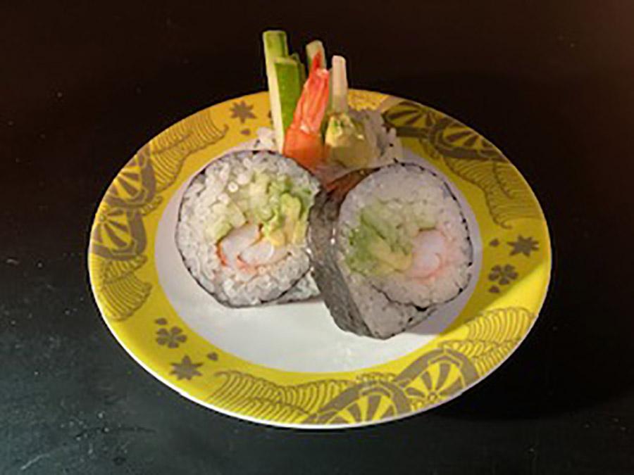 ebi, avocado & cucumber roll