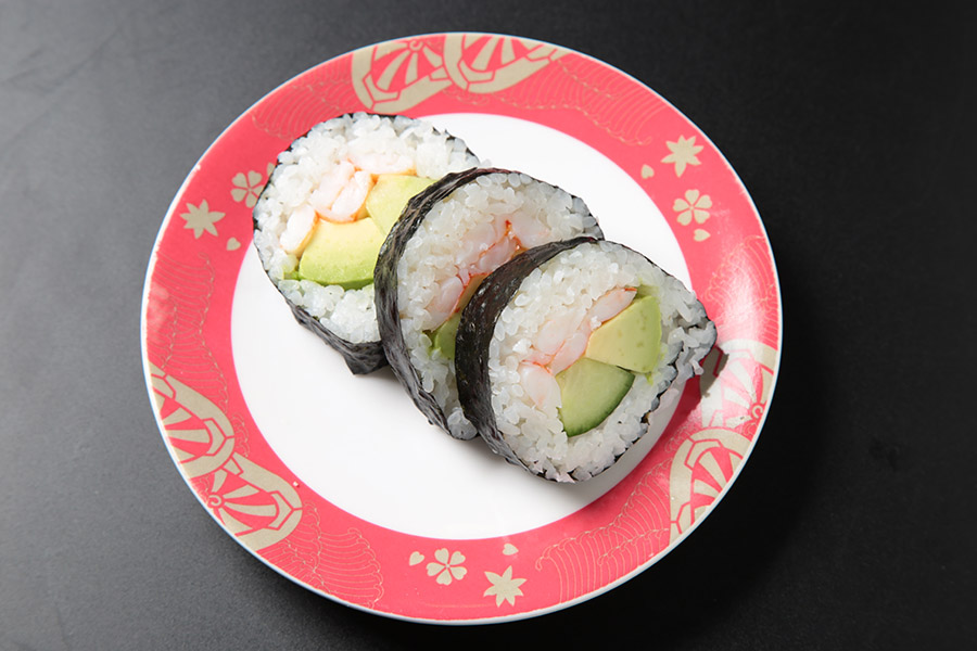 soft shell crab, avocado roll topped w/ hamachi, unagi and tobiko
