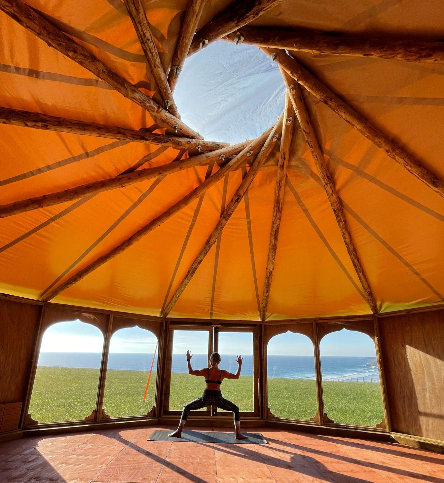 Zen Den Yoga School inside Yurt