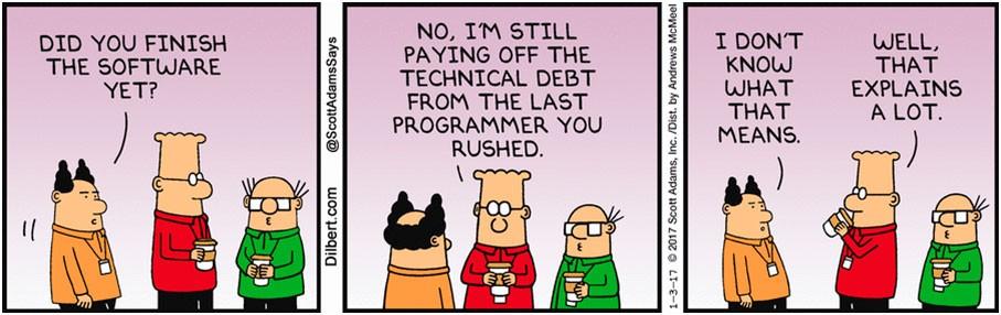 Dilbert Technical Debt Comic Strip