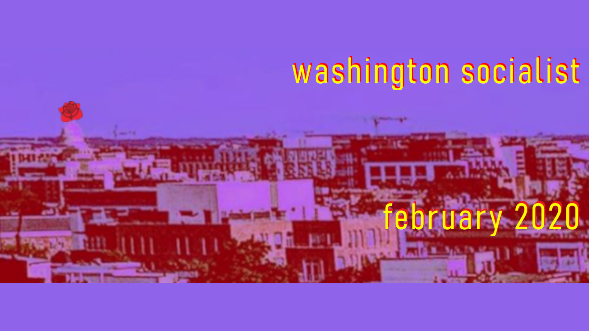 February 2020 Washington Socialist Cover