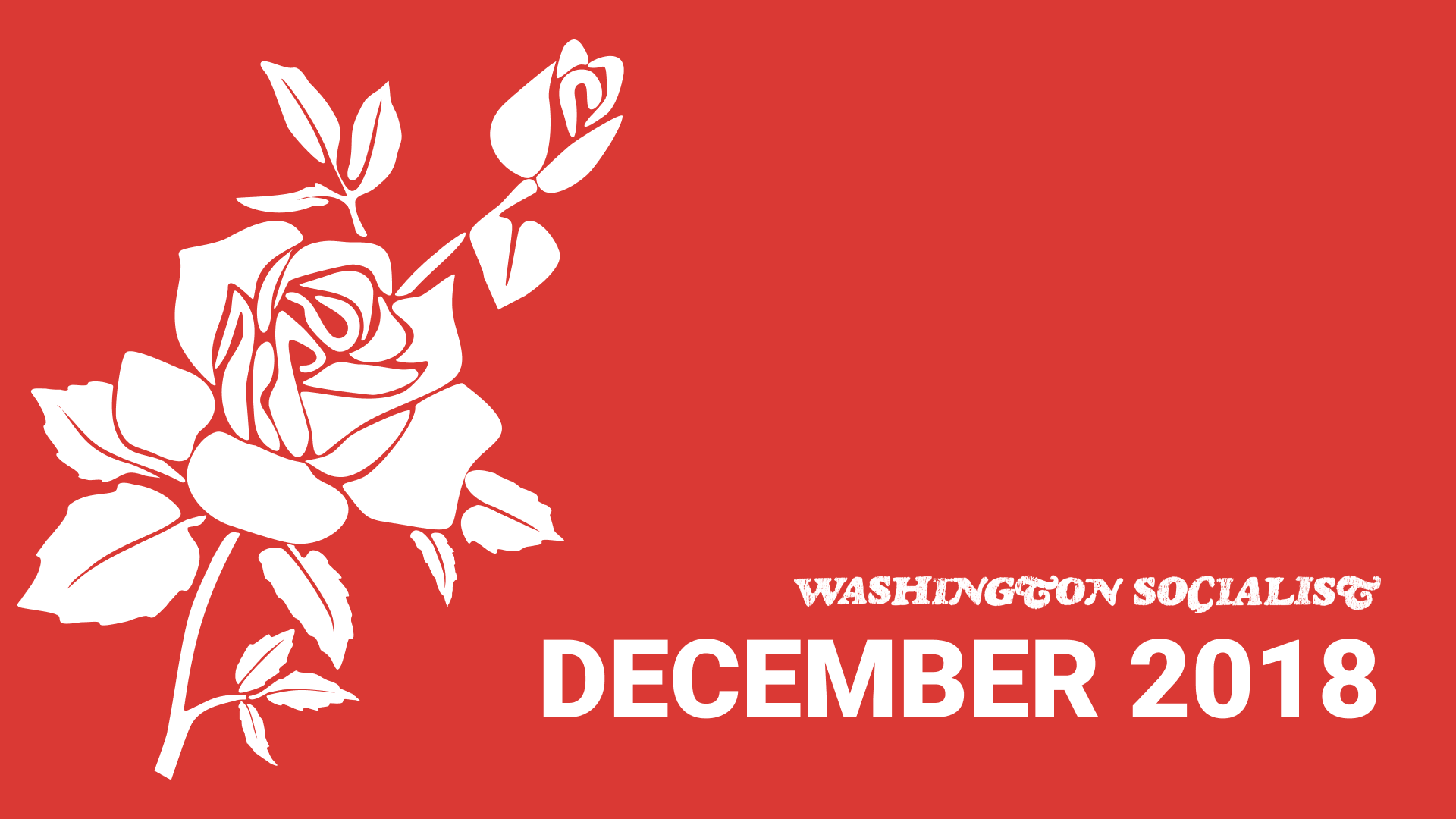 Washington Socialist Cover, December 2018