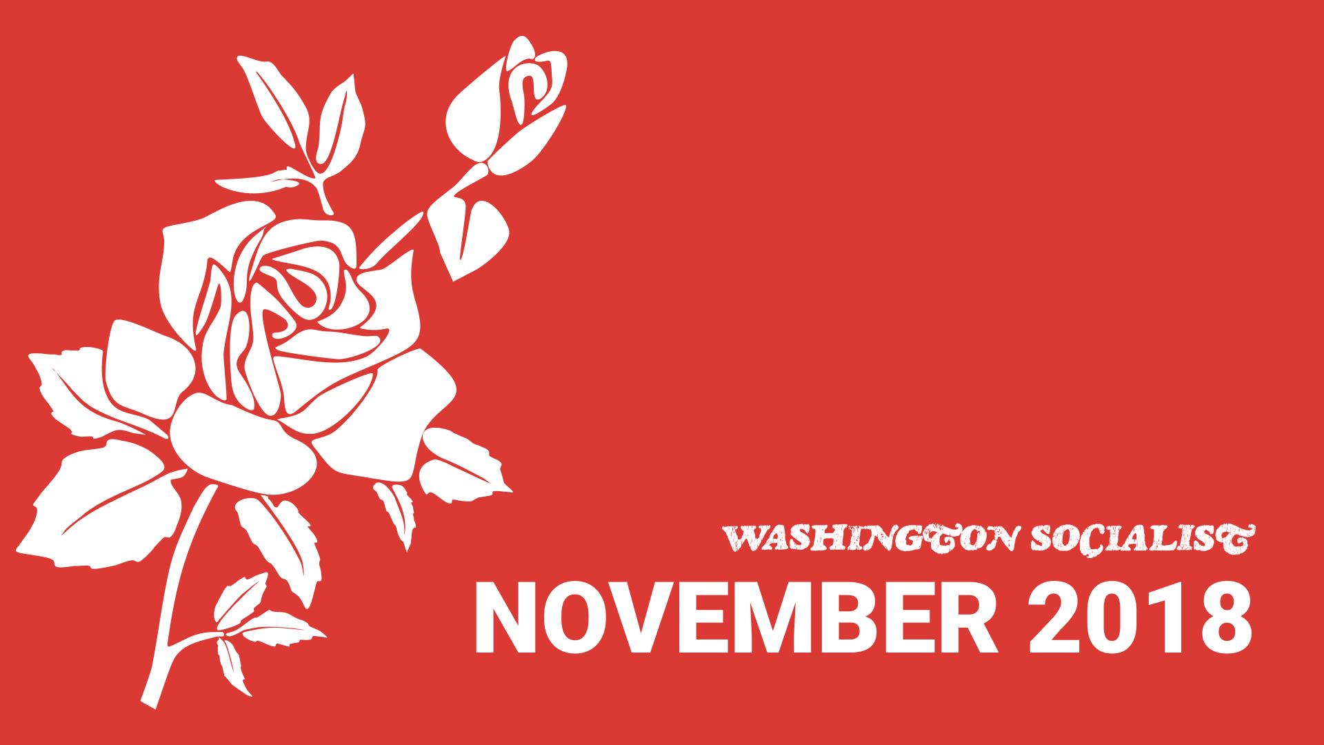Washington Socialist Cover, November 2018