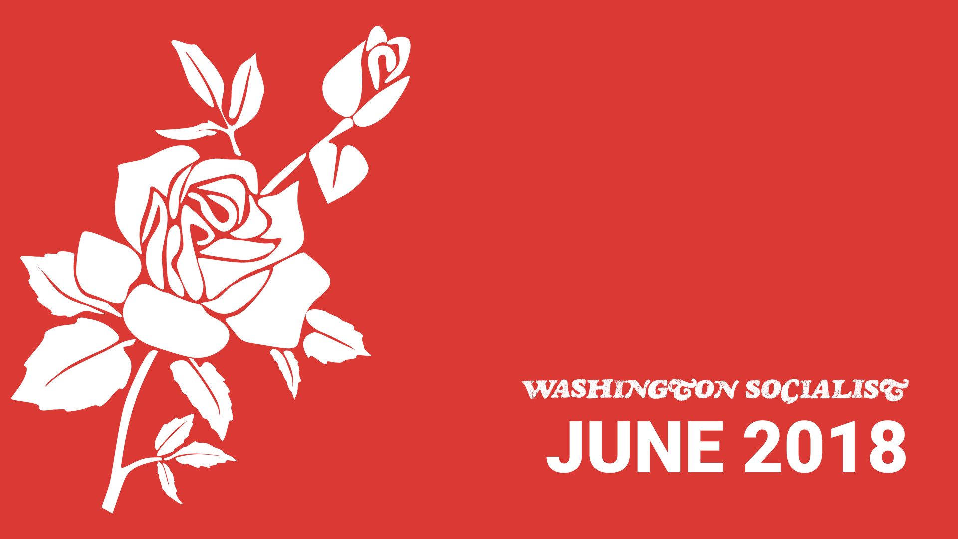Washington Socialist Cover, June 2018