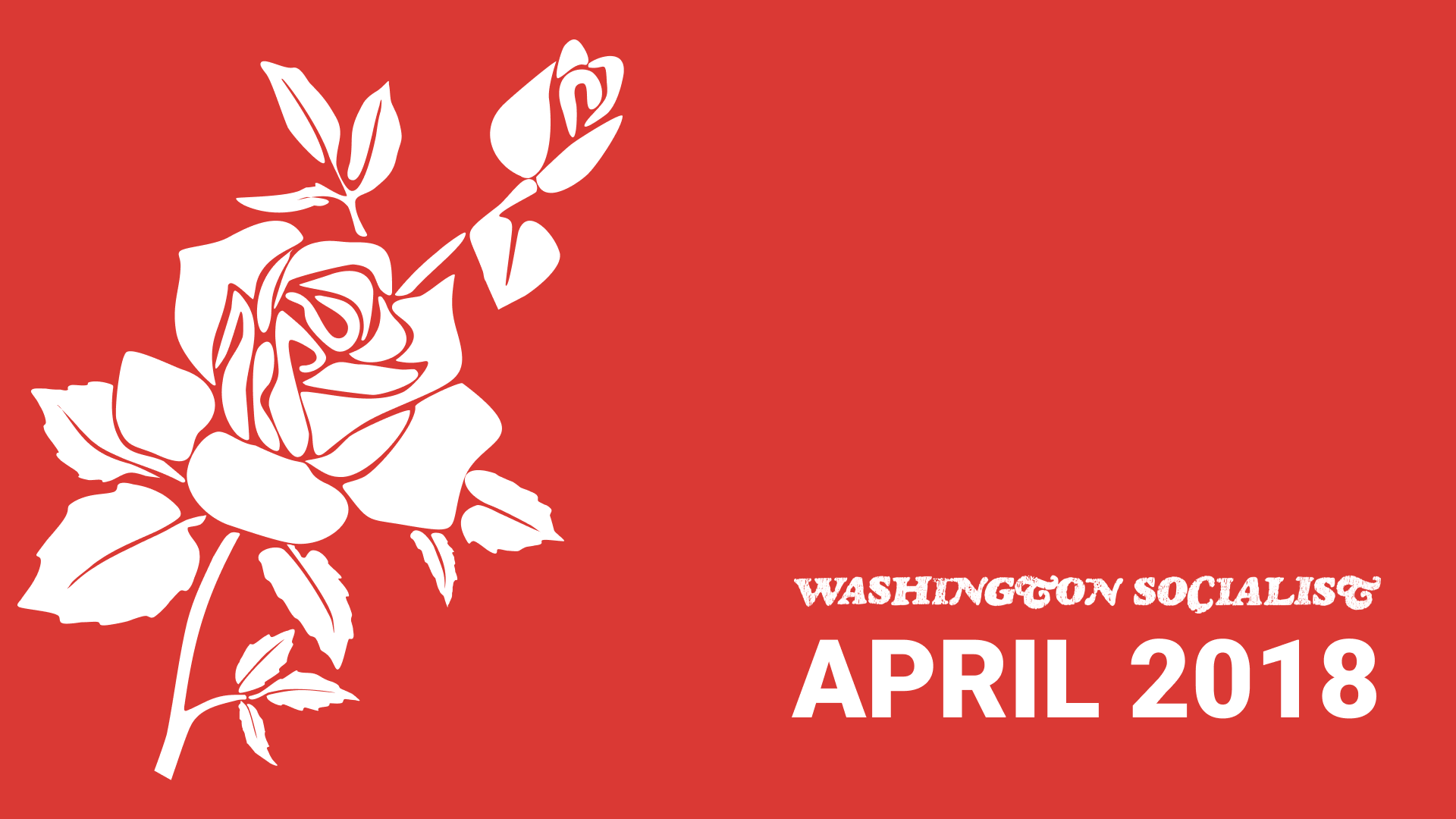 Washington Socialist Cover, April 2018