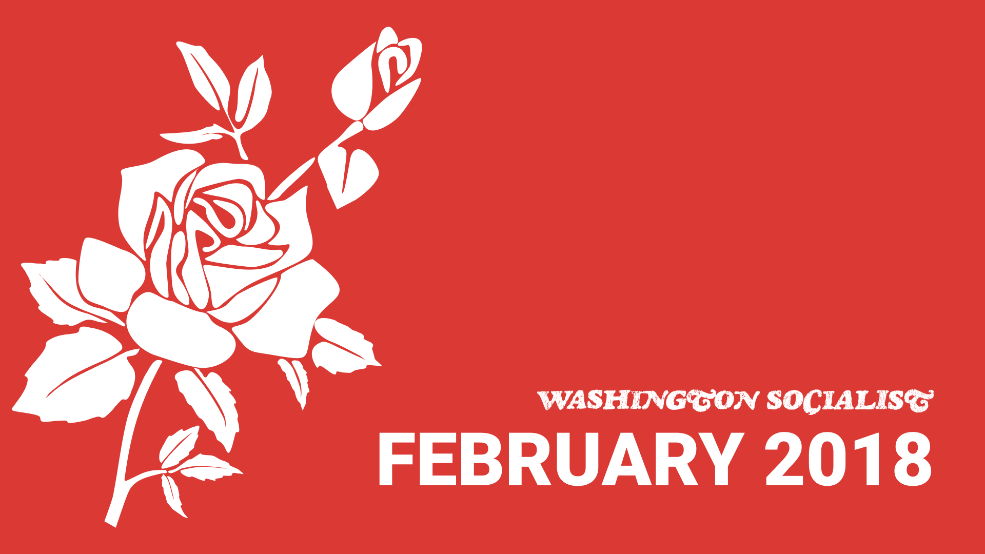 Washington Socialist Cover, February 2018