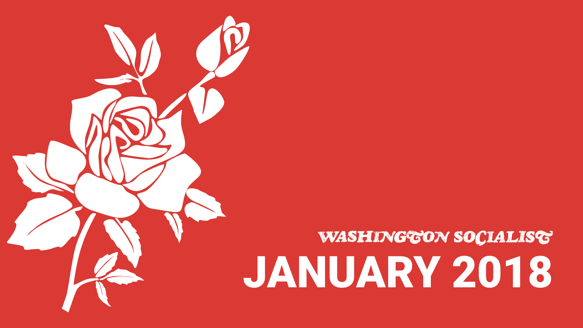 Washington Socialist Cover, January 2018